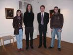 Wyman Brent with the director of the Rendsburg Jewish Museum, Dr. Christian Walda, Andrea Oberheiden, and Jens J. Reinke